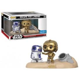 Star Wars 222 POP - Escape Pod Landing R2-D2 & C-3PO Desert EXC