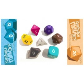 "Squishy Dice Set, Chocolate (2"" set of 7 Polyhedral Dice)"