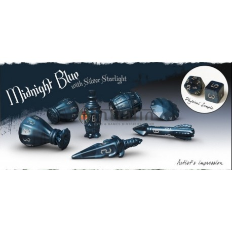PolyHero Dice Rogue Sets - Midnight Blue