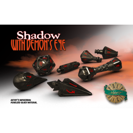 PolyHero Dice Wizard Set - Shadow with Demon's Eye