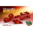 PolyHero Dice 1d20 Hat - Dragonfire with Brimstone