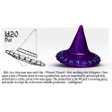 PolyHero Dice 1d20 Hat - Wizardstone with Mystic Runes