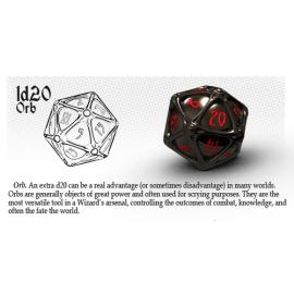 PolyHero Dice 1d20 Orb - Wizardstone with Mystic Runes