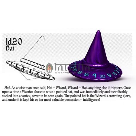 PolyHero Dice Wizard Ice//Blue Wizard 1D20 Wizard Hat