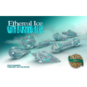 PolyHero Dice 1d20 Hat - Ethereal Ice with Burning Blue