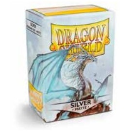 Dragon Shield Matte - Silver (10x100)