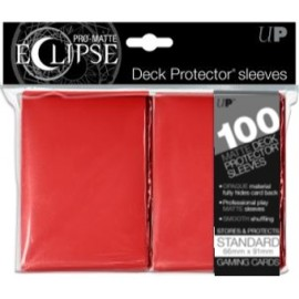 Pro Matte Eclipse Standard Sleeves Apple Red 100ct