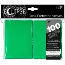 Pro Matte Eclipse Standard Sleeves Lime Green 100ct