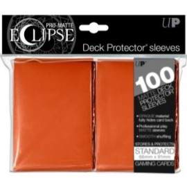Pro Matte Eclipse Standard Sleeves Pumpkin Orange 100ct