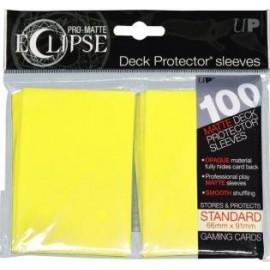 Pro Matte Eclipse Standard Sleeves Lemon Yellow 100ct