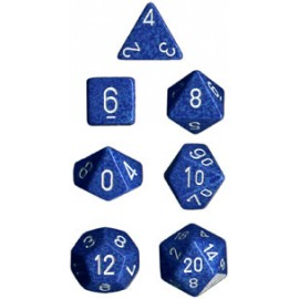 Speckled Polyhedral 7-Die Sets - Water
