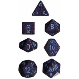 Speckled Polyhedral 7-Die Sets - Cobalt