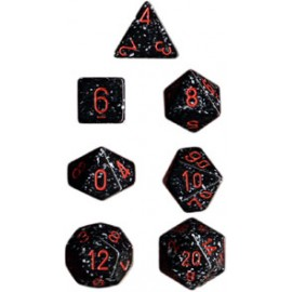 Speckled Polyhedral 7-Die Sets - Space