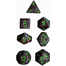 Speckled Polyhedral 7-Die Sets - Earth