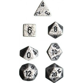Speckled Polyhedral 7-Die Sets - Arctic Camo