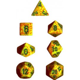 Speckled Polyhedral 7-Die Sets - Lotus