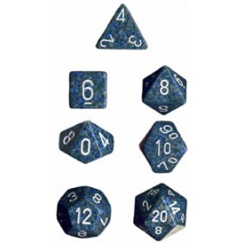 Speckled Polyhedral 7-Die Sets - Sea