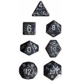 Speckled Polyhedral 7-Die Sets - Ninja