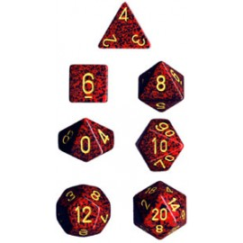 Speckled Polyhedral 7-Die Sets - Mercury