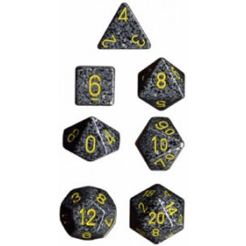 Speckled Polyhedral 7-Die Sets - Urban Camo