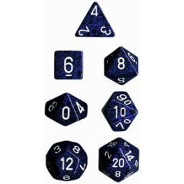 Speckled Polyhedral 7-Die Sets - Stealth