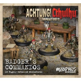 Achtung! Cthulhu - Badger's Commandos Unit Pack (8-pack of minis)