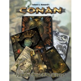 Conan: Forbidden Places & Pits of Horror Geo. Tile Set (Conan RPG Terrain)