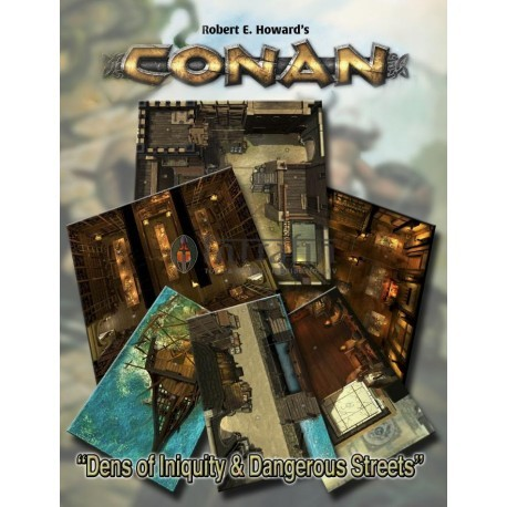Conan: Dens of Iniquity & Streets of Terror Geo. Tile Set (Conan RPG Terrain)