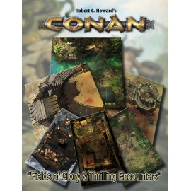 Conan: Fields of Glory & Thrilling Encounters Geo. Tile Set (Conan RPG Terrain)