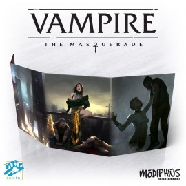 Vampire: The Masquerade Storyteller Screen (Vampire 5th, 4 panel w/Adv.)