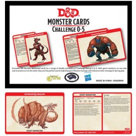 Dungeons & Dragons Monster Card Deck Levels 0-5 (177 cards)
