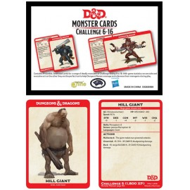 Dungeons & Dragons Monster Card Deck Levels 6-16 (74 cards)