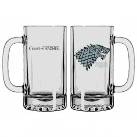 A Game of Thrones Stark Beer glass