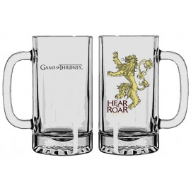 A Game of Thrones Lannister Beer glass