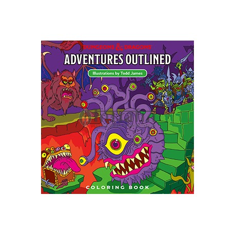 Dungeons & Dragons Next Adventures Outlined coloring book