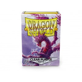 Dragon Shield MATTE Clear Purple - Limited color - see thru (10x100)