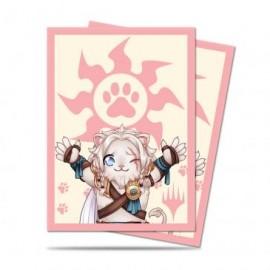 MTG Chibi Collection Ajani - Lion Hug Standard Deck Protector sleeves 100ct