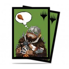 MTG Chibi Collection Garruk - I'm Starving! Standard Deck Protector sleeves 100ct