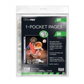 "1-Pocket Page Antimicrobial with 8-1/2""x 11"" pocket 25p per pack"