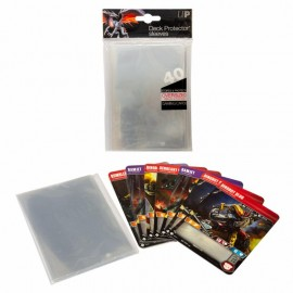 Oversized clear Top Loading Deck Protector sleeves 40ct