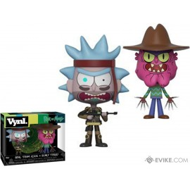 """Vynl. 4"""" - Rick and Morty - Seal Rick Scary Terry 2-pack"""