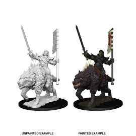 Pathfinder Battles Deep Cuts - Orc on Dire Wolf