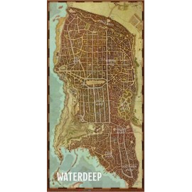 "Dungeons & Dragons ""Waterdeep"" Vinyl Game Mat 20""x 40"""