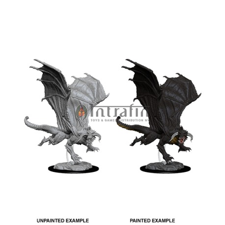 D&D Nolzur's Marvelous Miniatures - Young Black Dragon
