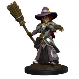 WizKids Wardlings Painted RPG Figures: Girl Witch & Witch's Cat