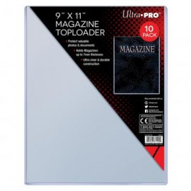 "Magazine Toploader 9""x11 1/4 "" thick 10 ct"