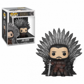 POP Deluxe: a Game of Thrones S10 - Jon Snow Sitting on Throne