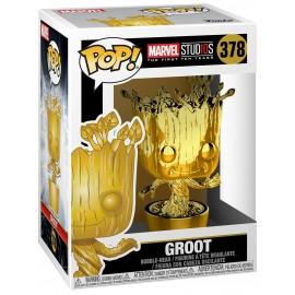 Marvel 378 POP: MS 10 - Groot (Chrome)
