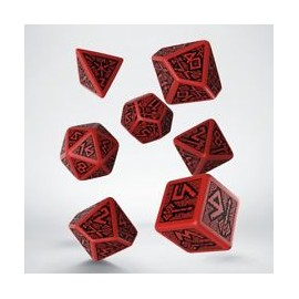 Dwarven Black & Red Dice Set