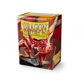 Dragon Shield MATTE - Ruby (100ct in box)